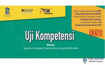 Uji Kompetensi dari LSP TIK Indonesia 2016