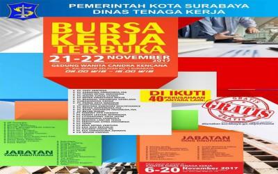 Bursa Kerja Terbuka Disnaker Surabaya November 2017